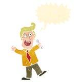 retro cartoon presenter man Royalty Free Stock Image
