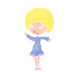 Retro cartoon pretty blond girl Stock Image