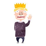 Retro cartoon prince Royalty Free Stock Photo