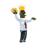 Retro cartoon prince taking oath. Retro cartoon illustration. On plain white background Stock Images