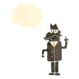 Retro cartoon private detective Stock Image