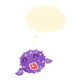 Retro cartoon puffer fish Royalty Free Stock Photo