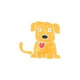 Retro cartoon puppy Stock Images