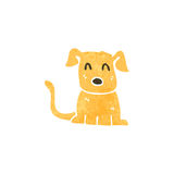 Retro cartoon puppy Royalty Free Stock Images