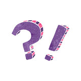 retro cartoon question marks and exclamation marks Royalty Free Stock Photo