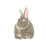 Retro cartoon rabbit Royalty Free Stock Images