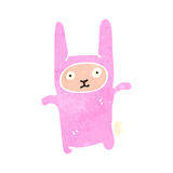 Retro cartoon rabbit costume Royalty Free Stock Photo