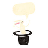 Retro cartoon rabbit in hat Royalty Free Stock Photos