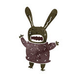 retro cartoon rabbit Stock Images
