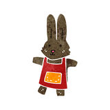 Retro cartoon rabbit Stock Photos