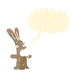 Retro cartoon rabbit shouting Royalty Free Stock Image