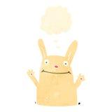retro cartoon rabbit with thought bubble Stock Photos