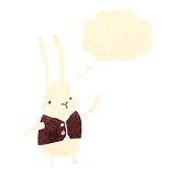 Retro cartoon rabbit in waist coat Stock Images