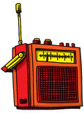 Retro Cartoon Radio Stock Photography