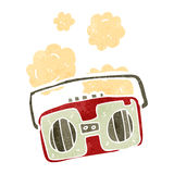 retro cartoon radio Royalty Free Stock Photography