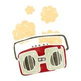 retro cartoon radio Royalty Free Stock Photography