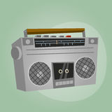 Retro cartoon radio Stock Image