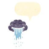 Retro cartoon rain cloud Royalty Free Stock Images