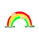 Retro cartoon rainbow Stock Photos