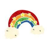 Retro cartoon rainbow symbol Royalty Free Stock Images
