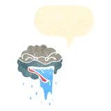 Retro cartoon raincloud Stock Photo