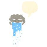 Retro cartoon raincloud Royalty Free Stock Photos