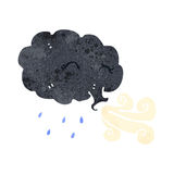 Retro cartoon raincloud Stock Photography
