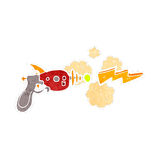 Retro cartoon ray gun Stock Images