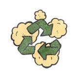 retro cartoon recycling symbol Stock Photography