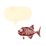 Retro cartoon red fish Stock Photography