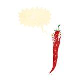 Retro cartoon red hot chili pepper Royalty Free Stock Photo