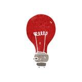 Retro cartoon red light bulb Royalty Free Stock Image