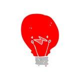 Retro cartoon red light bulb Stock Photos
