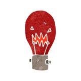 retro cartoon red light bulb symbol Stock Photos