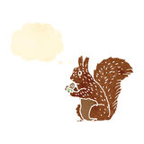 Retro cartoon red squirel Stock Images