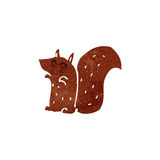 retro cartoon red squirrel Stock Photography