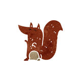 retro cartoon red squirrel Stock Image