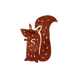 retro cartoon red squirrel Royalty Free Stock Photo
