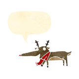Retro cartoon reindeer Stock Photos