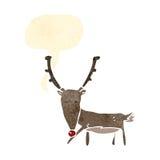 retro cartoon reindeer Royalty Free Stock Photos