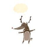 retro cartoon reindeer Stock Image