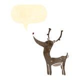 retro cartoon reindeer Stock Photo