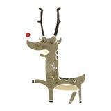 retro cartoon reindeer Stock Photos