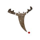 retro cartoon reindeer face Stock Photos