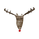 retro cartoon reindeer face Royalty Free Stock Images