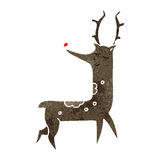 retro cartoon reindeer Royalty Free Stock Photography