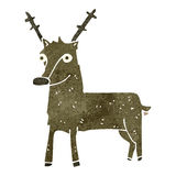 retro cartoon reindeer Royalty Free Stock Images
