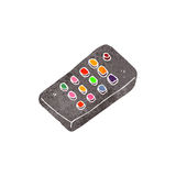 Retro cartoon remote control Stock Photos