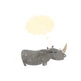 Retro cartoon rhinoceros Stock Image