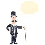 Retro cartoon rich man Royalty Free Stock Image